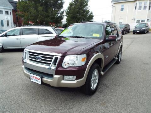 2007 Ford Explorer for sale at FRIAS AUTO SALES LLC in Lawrence MA