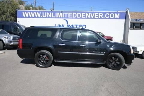 2007 Cadillac Escalade ESV for sale at Unlimited Auto Sales in Denver CO