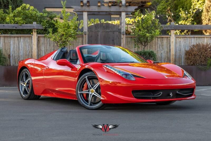 2013 Ferrari 458 Spider for sale at Veloce Motorsales in San Diego CA
