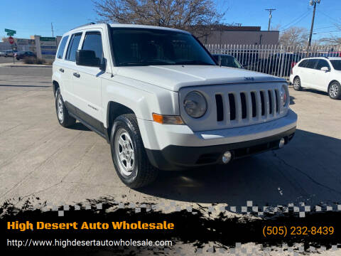 2014 Jeep Patriot for sale at High Desert Auto Wholesale in Albuquerque NM
