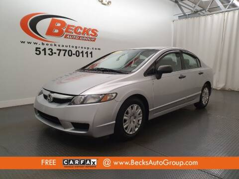 2010 Honda Civic for sale at Becks Auto Group in Mason OH