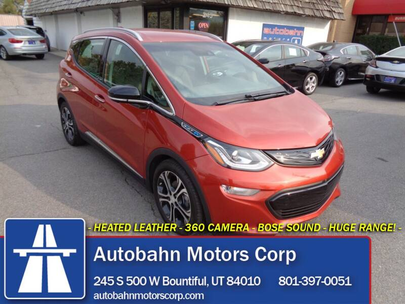2020 Chevrolet Bolt EV for sale at Autobahn Motors Corp in Bountiful UT