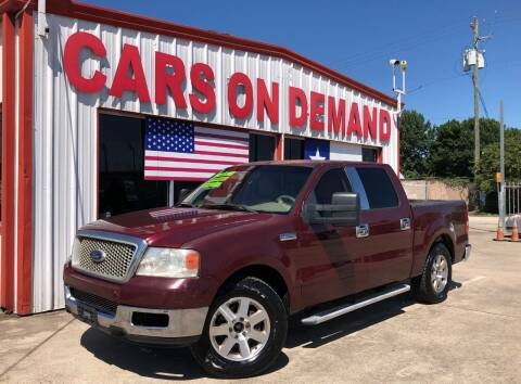 2004 Ford F-150 for sale at Cars On Demand 3 in Pasadena TX