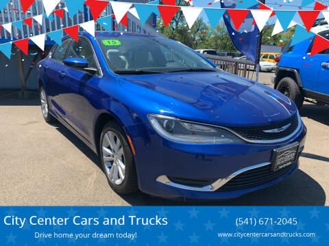2015 Chrysler 200 for sale at City Center Cars and Trucks in Roseburg OR
