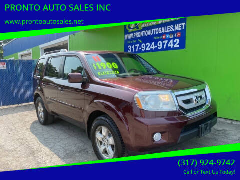 2011 Honda Pilot for sale at PRONTO AUTO SALES INC in Indianapolis IN