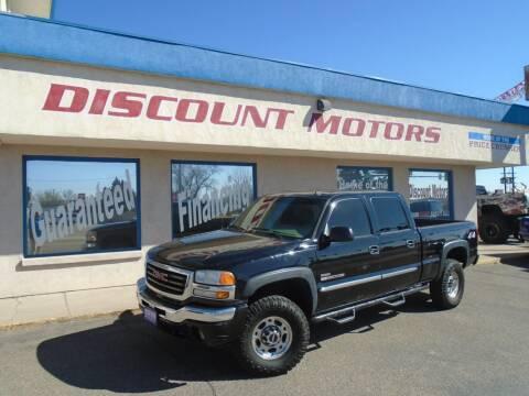 2006 GMC Sierra 2500HD for sale at Discount Motors in Pueblo CO