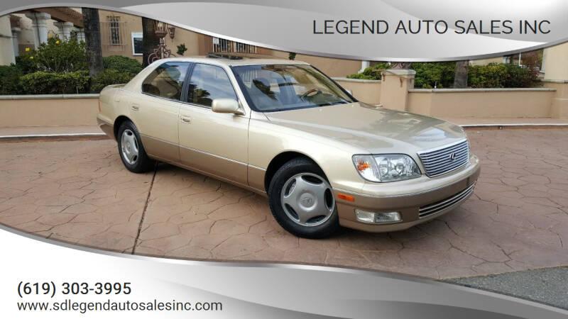 1999 Lexus LS 400 for sale at Legend Auto Sales Inc in Lemon Grove CA