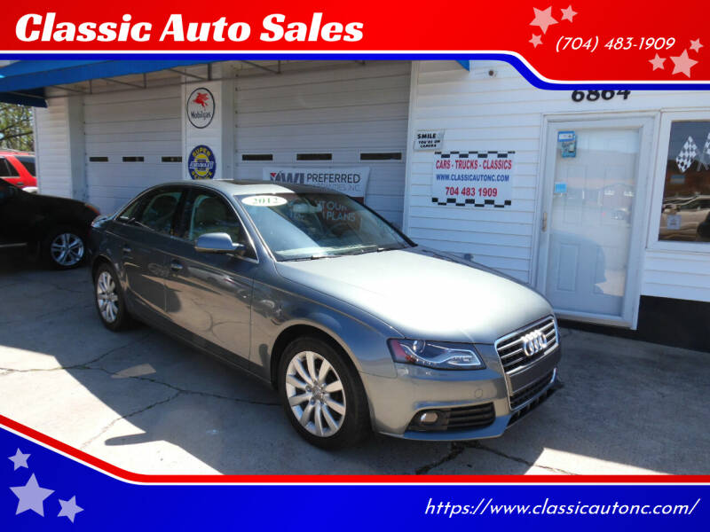 2012 Audi A4 for sale at Classic Auto Sales in Maiden NC