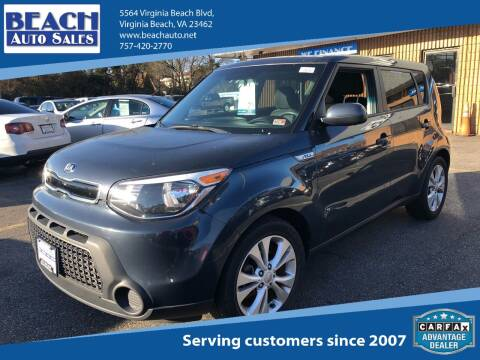2015 Kia Soul for sale at Beach Auto Sales in Virginia Beach VA