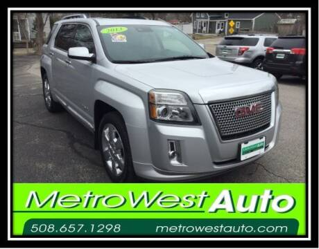 2013 GMC Terrain for sale at Metro West Auto in Bellingham MA