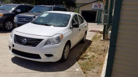 2014 Nissan Versa for sale at S & J Auto Group in San Antonio TX