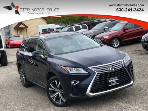 2018 Lexus RX 350L for sale at Star Motor Sales in Downers Grove IL