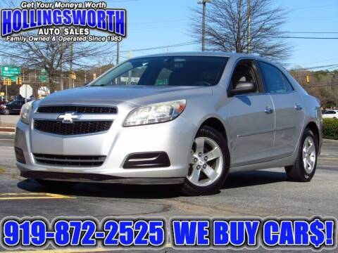 2013 Chevrolet Malibu for sale at Hollingsworth Auto Sales in Raleigh NC