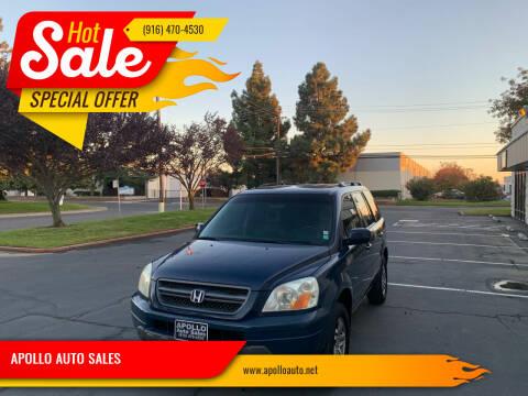 2004 Honda Pilot for sale at APOLLO AUTO SALES in Sacramento CA