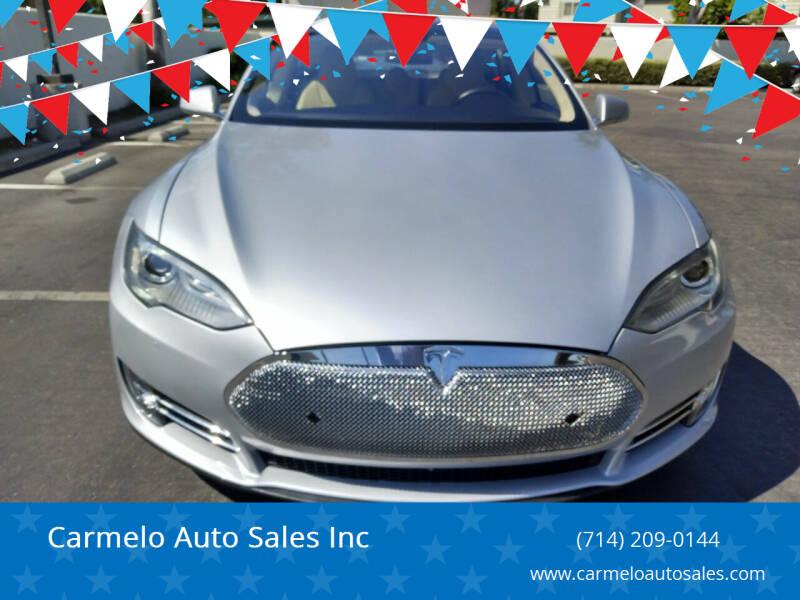2014 Tesla Model S for sale at Carmelo Auto Sales Inc in Orange CA