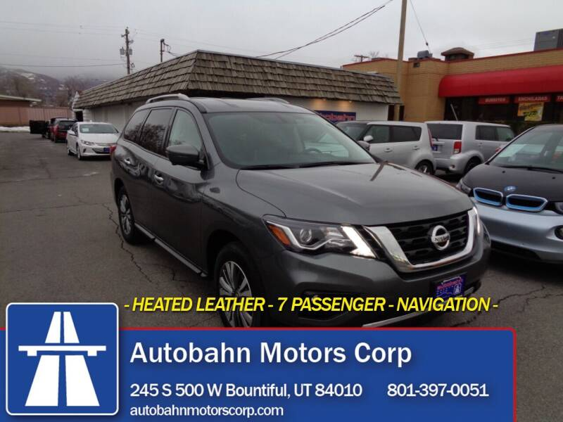 2019 Nissan Pathfinder for sale at Autobahn Motors Corp in Bountiful UT