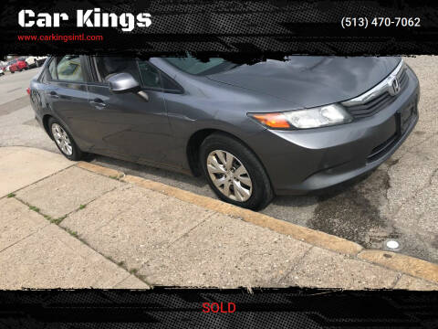 2012 Honda Civic for sale at Car Kings in Cincinnati OH