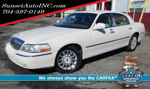 2006 Lincoln Town Car for sale at Sunset Auto in Charlotte NC