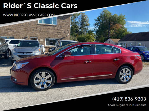 2010 Buick LaCrosse for sale at Rider`s Classic Cars in Millbury OH