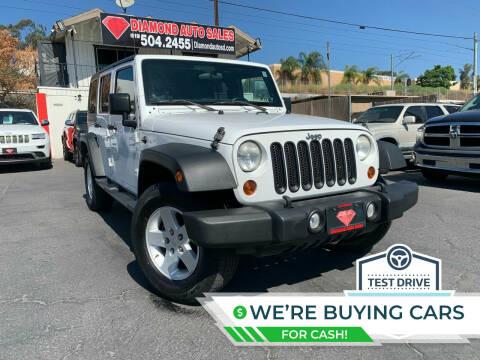2012 Jeep Wrangler Unlimited for sale at DIAMOND AUTO SALES in El Cajon CA