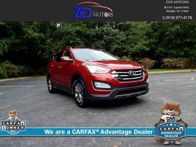 2014 Hyundai Santa Fe Sport for sale at Zed Motors in Raleigh NC