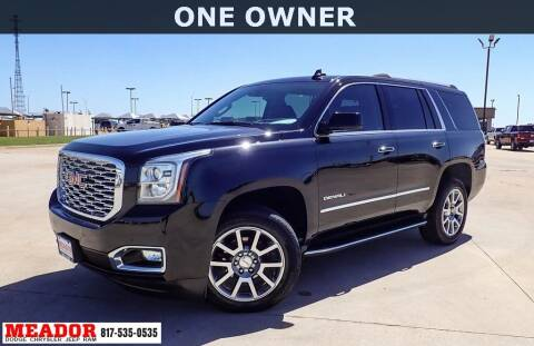 2020 GMC Yukon for sale at Meador Dodge Chrysler Jeep RAM in Fort Worth TX