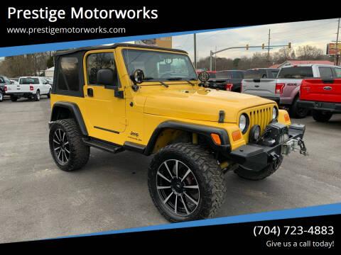 2004 Jeep Wrangler for sale at Prestige Motorworks in Concord NC
