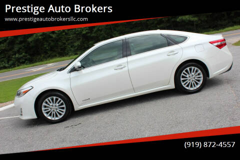 2013 Toyota Avalon Hybrid for sale at Prestige Auto Brokers in Raleigh NC