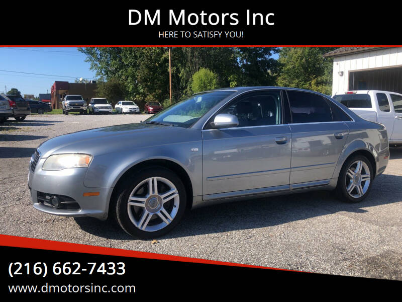 2008 Audi A4 for sale at DM Motors Inc in Maple Heights OH