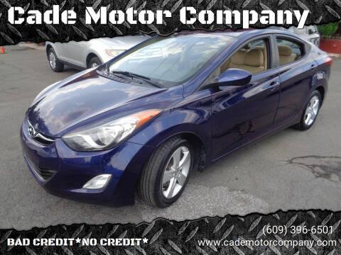 2013 Hyundai Elantra for sale at Cade Motor Company in Lawrence Township NJ