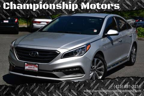 2015 Hyundai Sonata for sale at Mudarri Motorsports - Championship Motors in Redmond WA