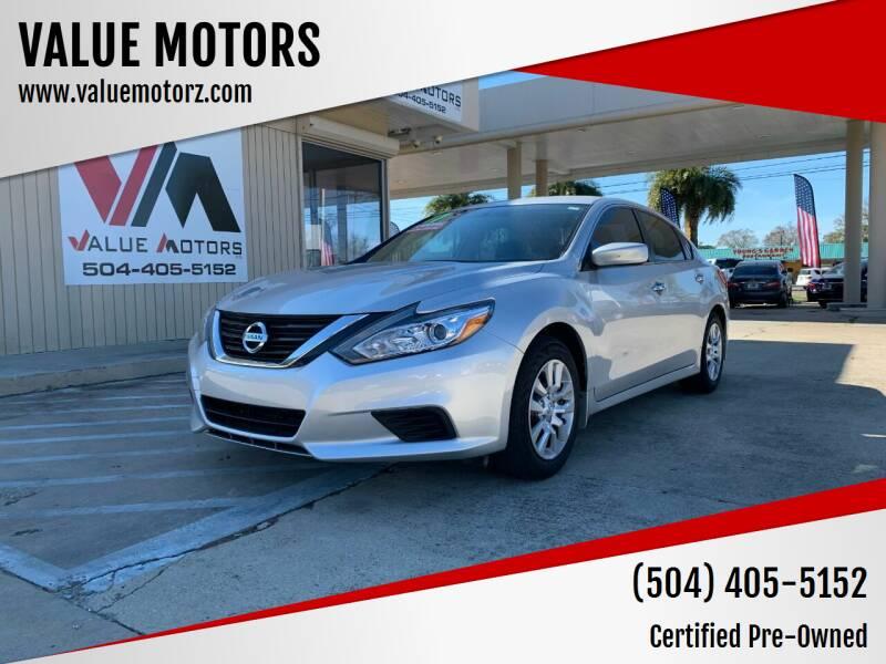2017 Nissan Altima for sale at VALUE MOTORS in Kenner LA
