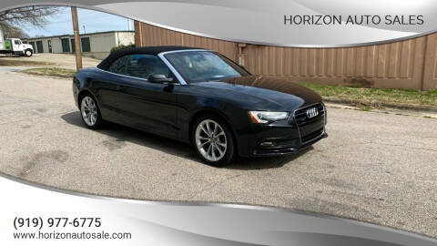 2013 Audi A5 for sale at Horizon Auto Sales in Raleigh NC