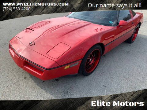 1985 Chevrolet Corvette for sale at Elite Motors in Uniontown PA