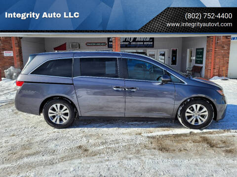 2016 Honda Odyssey for sale at Integrity Auto LLC - Integrity Auto 2.0 in St. Albans VT