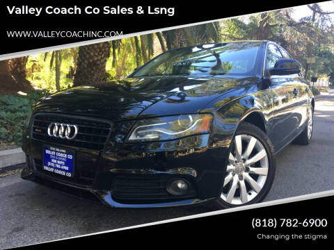 2009 Audi A4 for sale at Valley Coach Co Sales & Lsng in Van Nuys CA