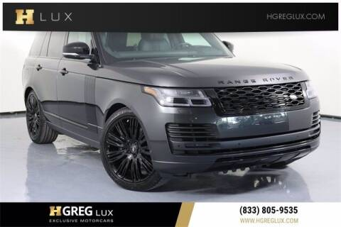 2020 Land Rover Range Rover for sale at HGREG LUX EXCLUSIVE MOTORCARS in Pompano Beach FL