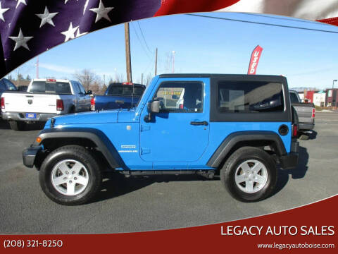 2011 Jeep Wrangler for sale at LEGACY AUTO SALES in Boise ID