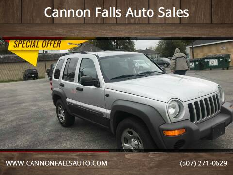 2004 Jeep Liberty for sale at Cannon Falls Auto Sales in Cannon Falls MN