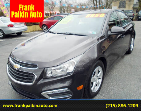 2016 Chevrolet Cruze Limited for sale at Frank Paikin Auto in Glenside PA
