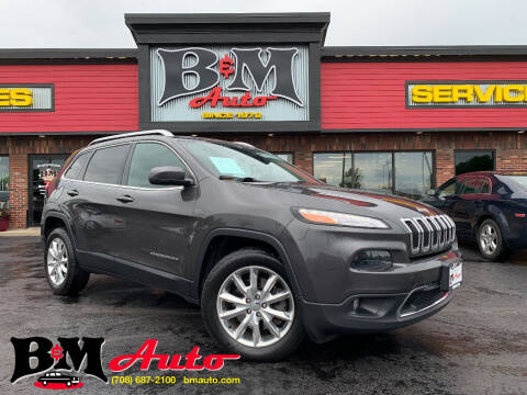 2014 Jeep Cherokee for sale at B & M Auto Sales Inc. in Oak Forest IL