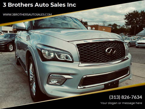 2015 Infiniti QX80 for sale at 3 Brothers Auto Sales Inc in Detroit MI