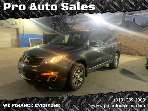 2015 Chevrolet Traverse for sale at Pro Auto Sales in Lincoln Park MI