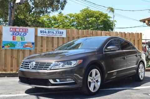 2016 Volkswagen CC for sale at ALWAYSSOLD123 INC in Fort Lauderdale FL