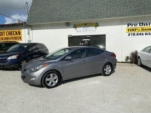 2012 Hyundai Elantra for sale at Klett Automotive Group in Saint Augustine FL