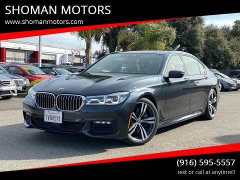 2016 BMW 7 Series for sale at SHOMAN MOTORS in Davis CA