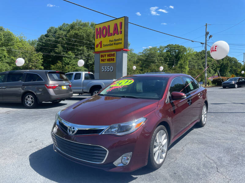 2013 Toyota Avalon for sale at No Full Coverage Auto Sales in Austell GA