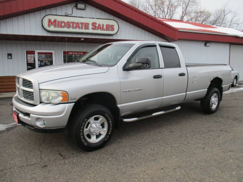 2003 Dodge Ram Pickup 2500 for sale at Midstate Sales in Foley MN