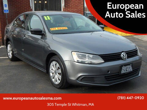 2011 Volkswagen Jetta for sale at European Auto Sales in Whitman MA