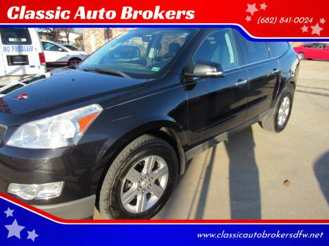 2012 Chevrolet Traverse for sale at Classic Auto Brokers in Haltom City TX